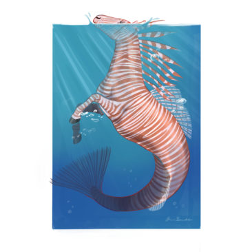 Mythical hippocampus with lionfish coloring. <i>Adobe Photoshop</i>